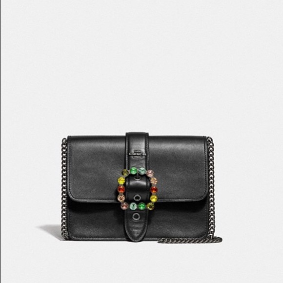 87bc8ba3cd651 Coach Bowery Crossbody With Jewel Buckle Black